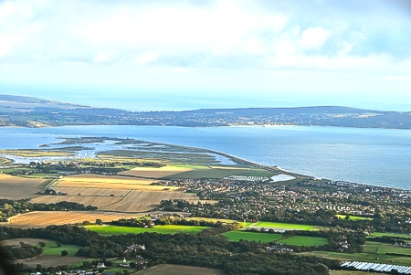 View over Milford on Sea